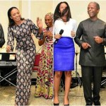 Beautiful Photo Of Vice President Osinbajo, Wife And Daughters Dancing