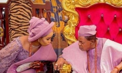 "Olori Badirat Ajoke Shares New Photo With Alaafin Of Oyo, Calls Herself ""His Oxygen"""