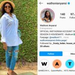 BBNaija: Wathoni Becomes The Third Female Housemate To Be Verified On Instagram