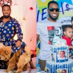 'Their carelessness made them lose their child' -Troll reacts to Dbanj's family photoshoot for Christmas