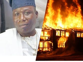 Popular Yoruba Activist Sunday Igboho's House Set On Fire By Suspected Fulani Herdsmen (See Photos)