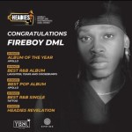 #14thHeadies: Fireboy DML Wins Big At The 14th Headies Awards
