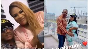 Nkechi Blessing slams haters as she shares rare moment with her man on Valentine Day