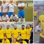 Davido Scores Brace in Football Match as Kiddwaya, Laycon, Zlatan Others Storm Lagos for Football Match