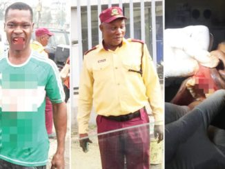 LASTMA, Police Officers Knock Out Driver's Teeth In Brutal Attack (Photos)