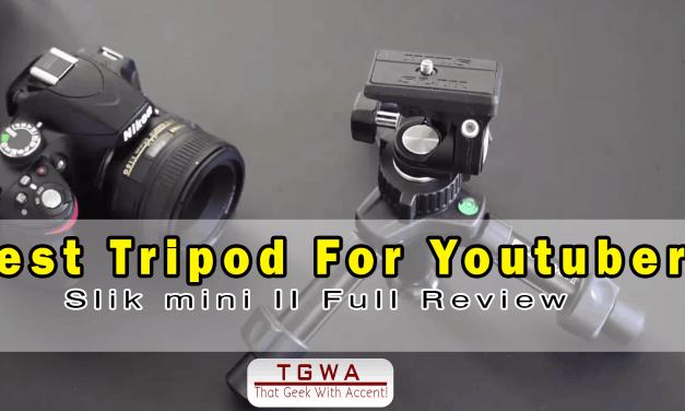 Best Tripod for Youtubers SLIK Mini ii