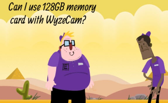 Can I use 128 GB memory card with WyzeCam?