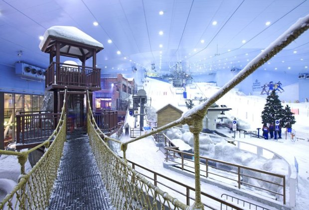 Ski Dubai at the Mall of the Emirates in Dubai.