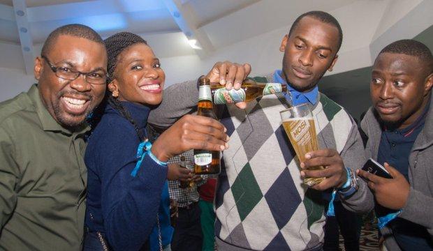 Zambian Breweries celebrating the rebranding of Mosi lager last year.