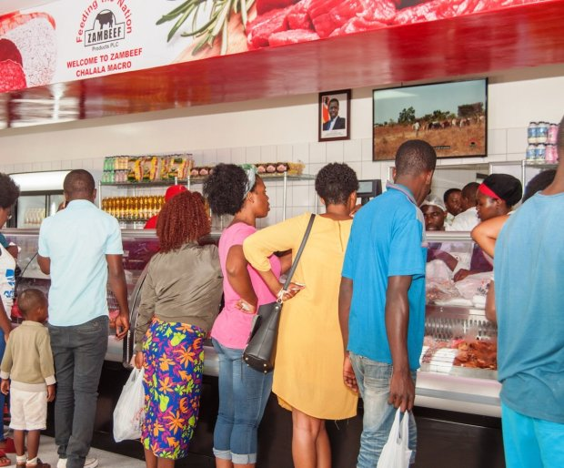 Excited shoppers flock to Zambeef's new Macro store in Chalala, Lusaka