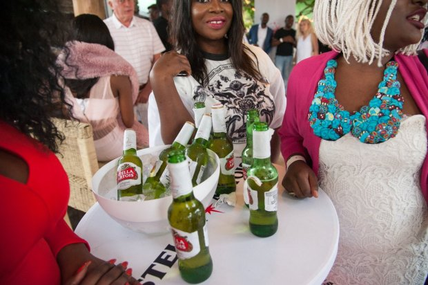 Guests enjoy the launch of Zambian Breweries' latest beer, Stella Artois.