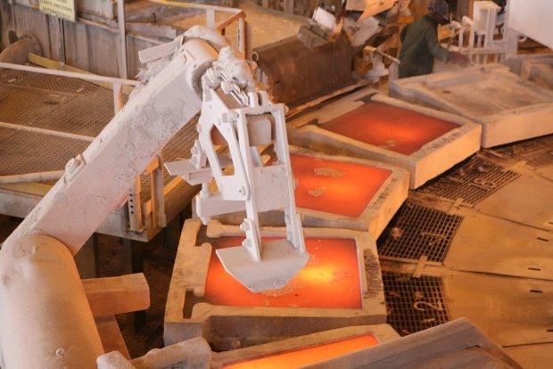 Copper at FQM's Kansanshi smelter.