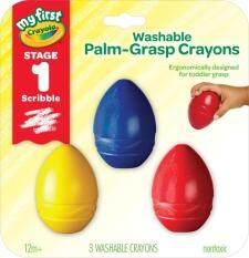 [สินค้ากล่องมีตำหนิราคาพิเศษ] Crayola สีเทียนล้างออกได้รูปไข่สำหรับเด็กเล็ก