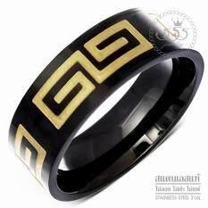 555jewelry แหวนสแตนเลส สตีลแท้ แหวนผู้ชายเท่ๆ แฟชั่น รุ่น MNC-R791 - แหวนผู้ชาย [R12]