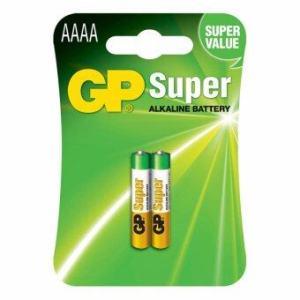 GP AAAA Alkaline Battery 4A,LR8D425,E96 (pack x 2)