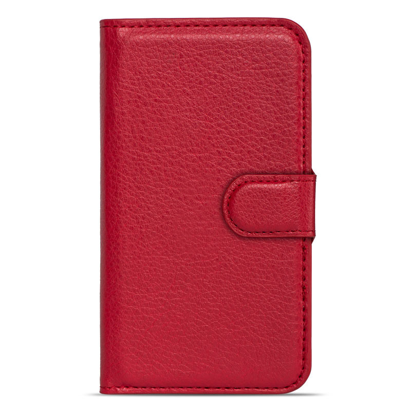 BUILDPHONE PU Leather Phone Plain Color Cover Case for Lenovo S60 (Red) – intl