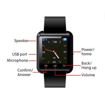 Uwatch Bluetooth Smart Watch รุ่น U8 (Red) ฟรี นาฬิกา LED + ซองกำมะหยี่ + สาย USB ลาซาด้า