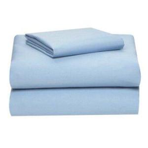 Allertex ชุดผ้าปูเตียงคู่กันไรฝุ่น 6 ฟุต 6 ขิ้น - สีฟ้า ( รวมปลอกผ้านวม )