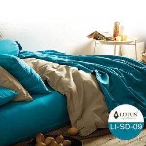 ชุดผ้าปูที่นอน 5ฟุต 5ชิ้น Lotus Impression - รุ่น LI-SD009-5ft สีฟ้าเข้ม