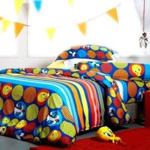 ชุดผ้าปูที่นอน 6ฟุต 5ชิ้น รวมผ้านวม Lotus Impression - ลายลูนี่ตูนส์ LI -L02