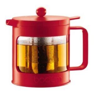 Bodum Bean tea press 1.0l/34oz. ( Red )