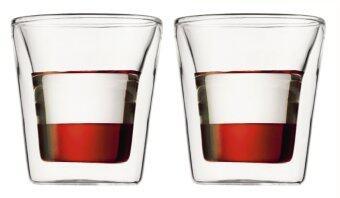 Bodum Canteen double wall glass 2 pcs. 0.1l/3oz.