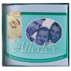 Allertex ผ้าปูเตียงคู่กันไรฝุ่น 5 ฟุต - สีฟ้า