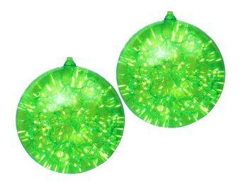 AllMerry Christmas ลูกบอลใส พร้อมไฟประดับภายใน 30 ซม - สีเขียว (ชุด 2 ลูก)
