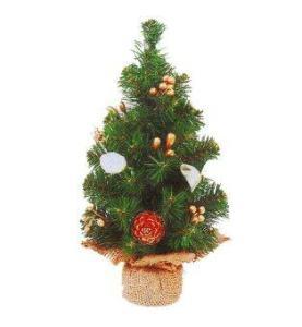 AllMerry Christmas ต้นคริสต์มาส 1 ฟุต ประดับลูกสน ฮอลลี่เบอร์รี่ทอง (ชุด 2 ต้น)