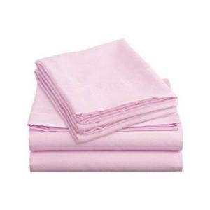 Allertex ชุดผ้าปูเตียงคู่กันไรฝุ่น 6 ฟุต 7 ขิ้น - สีชมพู ( รวมปลอกผ้านวมและผ้านวม )