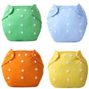 กางเกงผ้าอ้อมนาโน ซักได้ ชนิดกันน้ำ 5 ชิ้นแถมแผ่นผ้าซับปัสสาวะ 7 ชิ้น (สีฟ้า+แดง+ส้ม+เหลือง+เขียว)