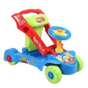 LookmeeShopรถผลักเดิน+รถขาไถ 4 in 1 (สีฟ้า)
