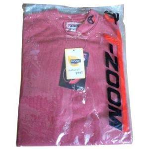 T-ZOOM เสื้อกอล์ฟผู้หญิง แขนยาว - สีแดง