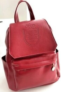 Cyber Stylish European Style Lady Women Backpack Bag (Wine Red)