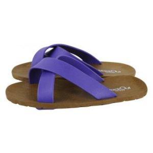 blackOut รองเท้าแตะ รุ่น BO-1001 สีน้ำตาล หูสีม่วง-ม่วง