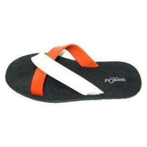 blackOut รองเท้าแตะ - รุ่น BO-1001 สีดำหูขาว-ส้ม