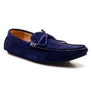 Brown Stone รองเท้าหนังทรง Casualist Loafer รุ่น D012 - Navy Blue