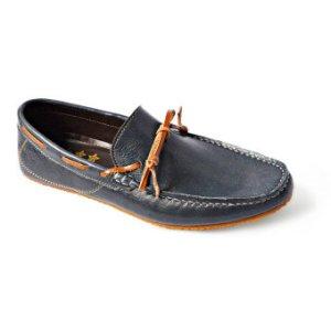 Arcobareno รองเท้าหนัง Loafer 06 (สีกรมท่า)