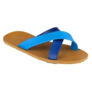 blackOut รองเท้าแตะ รุ่น BO-1001 สีน้ำตาล หูสีฟ้า-น้ำเงิน