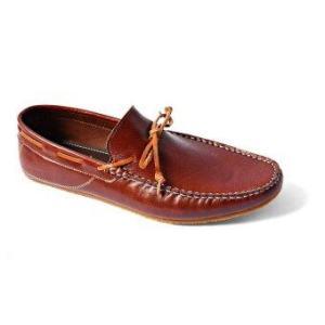 Arcobareno รองเท้าหนัง Loafer 07 (สีน้ำตาลไหม้)