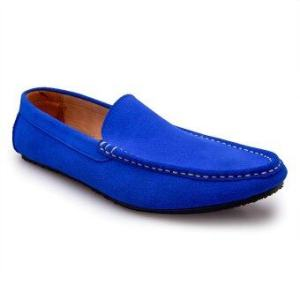 Brown Stone รองเท้าหนังทรง Casualist Loafer DN008 - Neon Blue no Rope