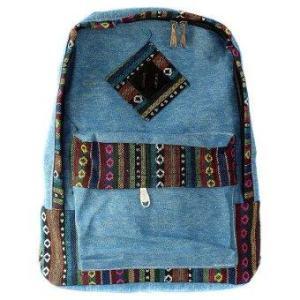 กระเป๋าเป้ผ้าใบ (สีฟ้า)