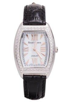 Royal Crown นาฬิกาประดับเพชร หรูสไตล์อิตาลี รุ่น 3635L-Black ( แถมฟรี ต่างหูเงินแท้มูลค่า 990 บาท 1 คู่ ) รีวิว