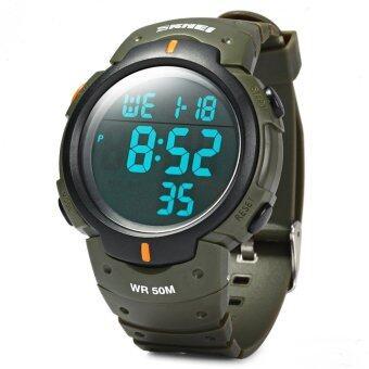 Skmei 1068 led นาฬิกากันน้ำกองทัพทหาร (กองทัพสีเขียว)