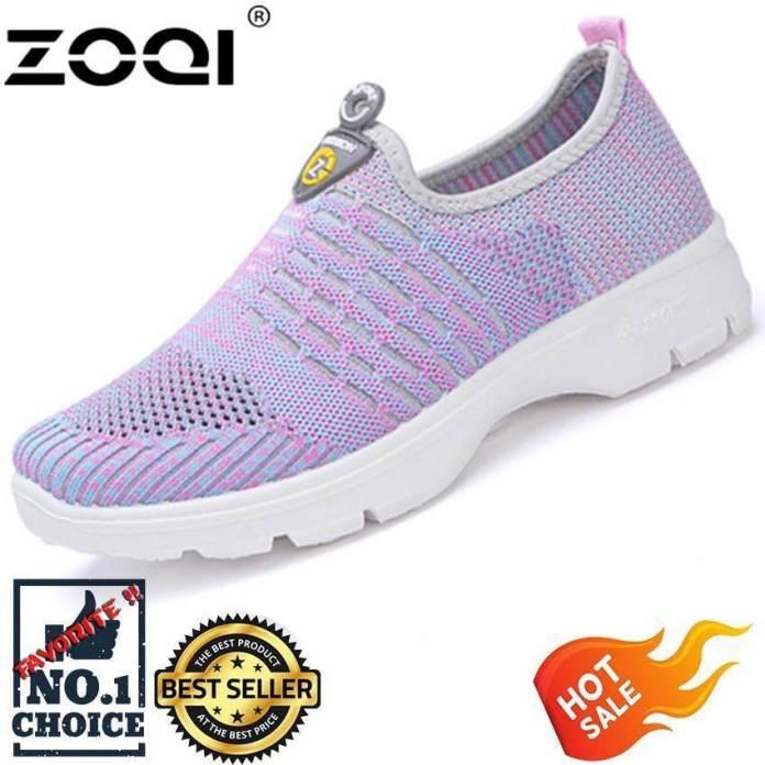 Zoqi Kasual Jaring Sepatu untuk Wanita, China Ringan Datar Sepatu Kaki Pembungkus-Internasional