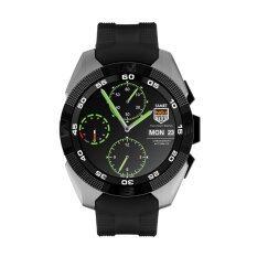 เลขที่ 1 G5 MTK2502C 1.2  \'\  ' นาฬิกาอัจฉริยะบลูทูธอัตราการเต้นของหัวใจสำหรับ IOS Android (เงิน)