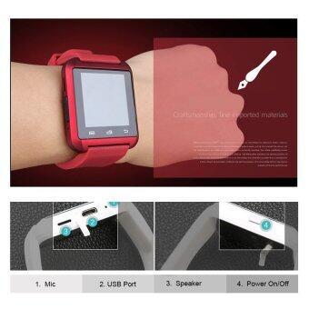 Uwatch Bluetooth Smart Watch รุ่น U8 (Red) ฟรี นาฬิกา LED + ซองกำมะหยี่ + สาย USB pantip