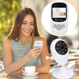2.4GHz Digital Color LCD Wireless Video Baby Monitor + Thermometer Night Vision Camera + 2 EU Plugs
