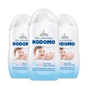 KODOMO โคโดโม แป้งเด็กเนื้อโลชั่น (3 ขวด)