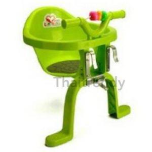 ThaiTrendy เก้าอี้นั่งเสริมจักรยาน สำหรับเด็ก มาพร้อมของเล่นด้านหน้า สีเขียว